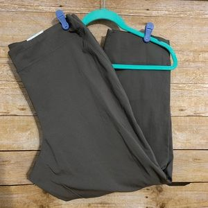 Dalia women's pull on slack pant 14W navy green